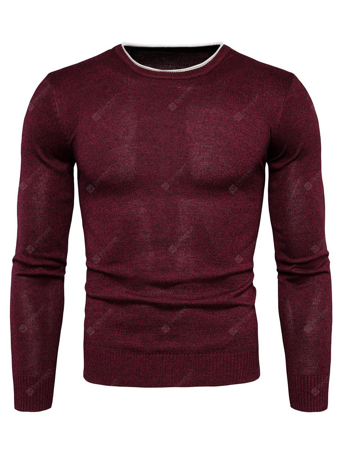Warm Round Neck Long Sleeves Sweater for Men