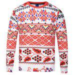 Stylish Long Sleeve Printed T-shirt - MIXCOLOR