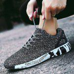 Male Stylish Breathable Wearable Light Sneakers - BLACK