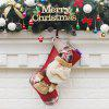 Christmas Stocking Adorable Santa Claus Hanging Sock - COLORMIX