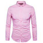 Men Trendy Slim Long Sleeves Business Shirt - PINK