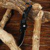 CTSmart 2015 Portable Hanging Buckle No Lock Folding Knife - BLACK