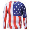 Casual Long Sleeve American Flag Printing T-shirt - COLORMIX