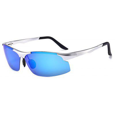 Western Style Half Frame Anti UV Sunglasses for Men