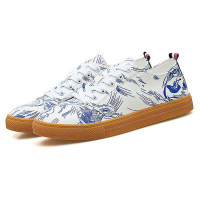 Masculino Impresso Lace Up Casual Skateboarding Shoes