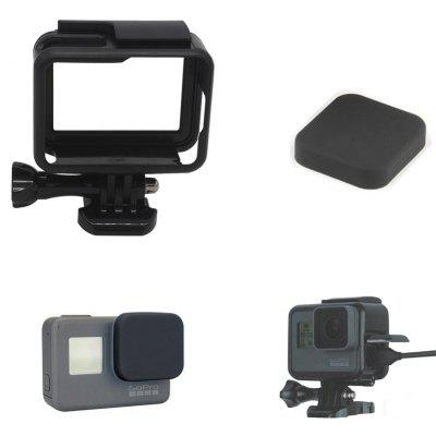 Fixed Frame + Silicone Lens Cap Cover for GoPro Hero 5