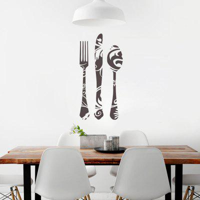 DSU Knife Spoon Fork  Removable Mural Decal Wall Sticker