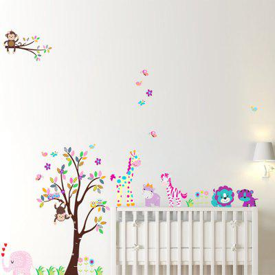 Buy DSU Forest and Animals Design Wall Sticker, COLORMIX, Home & Garden, Home Decors, Wall Art, Wall Stickers for $5.85 in GearBest store