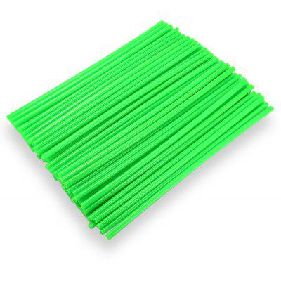 Buy GREEN 24CM Steel Wire Colorful Plastic Sleeve for $6.81 in GearBest store