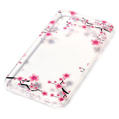 Buy COLORMIX ASLING Plum Blossom Theme TPU Phone Case for iPhone X for $2.43 in GearBest store