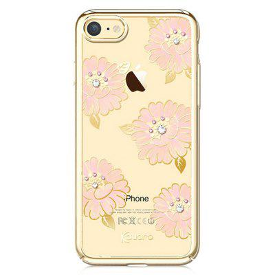 Buy CHAMPAGNE GOLD Kavaro Floristic Design Phone Case for iPhone 7 for $14.00 in GearBest store