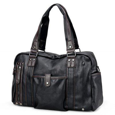 Men Fashion Dual Use PU Shoulder Bag