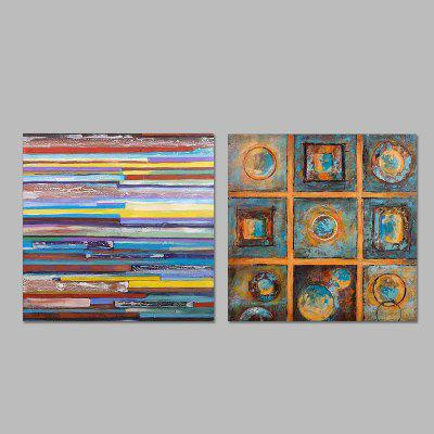 Buy COLORMIX Happy Art Hand Painted Abstract Style Oil Painting for $92.23 in GearBest store