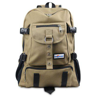 Buy KHAKI Men Leisure Multifunctional Canvas Backpack for $20.93 in GearBest store