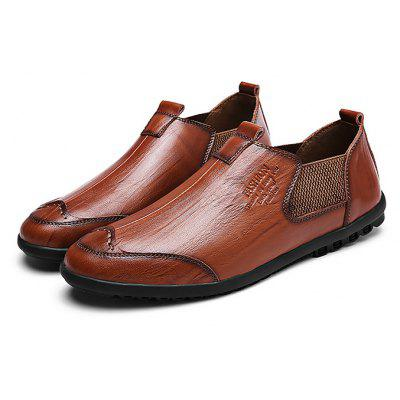 Male Retro Soft Durable Slip On Casual Oxford Shoes