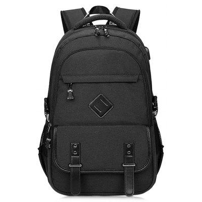 Buy Men Chic Business Laptop Backpack with USB Port, BLACK, Bags & Shoes, Men's Bags, Backpacks for $23.17 in GearBest store