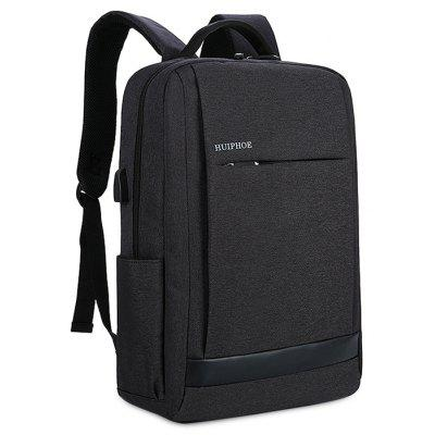 Buy BLACK Men Business Laptop Backpack with USB Port for $34.51 in GearBest store