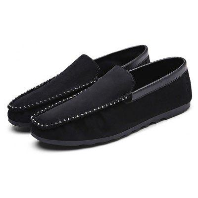 Male Soft Wearable Flat Slip On Casual Suede Shoes