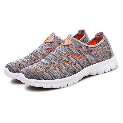 Male Soft Confortável Knitted Slip On Casual Shoes