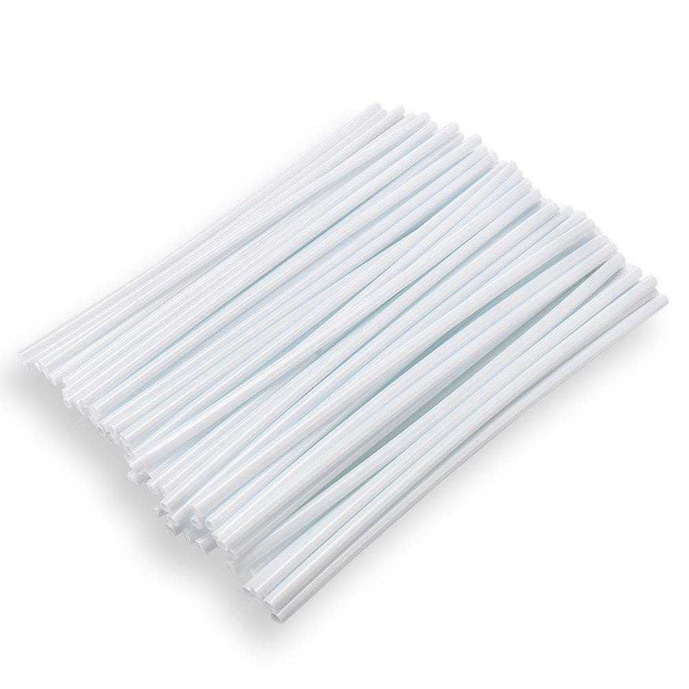 WHITE 24CM Steel Wire Colorful Plastic Sleeve