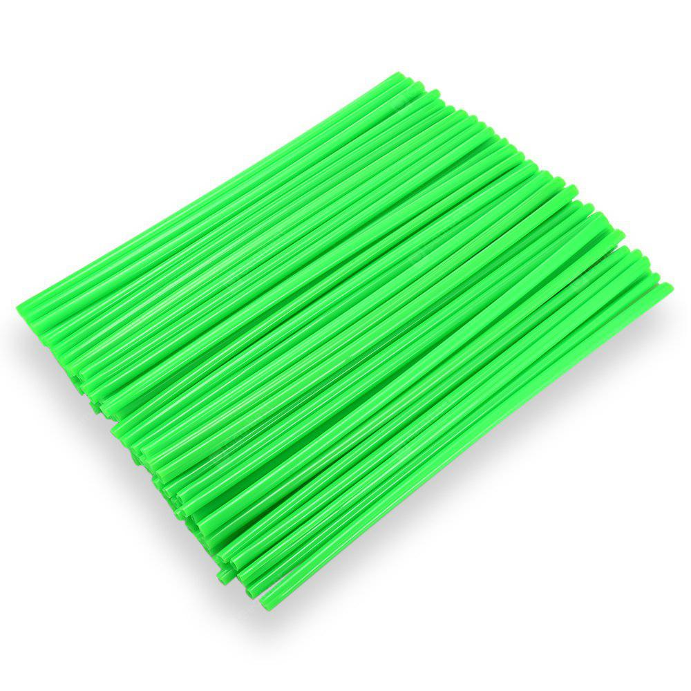 GREEN 24CM Steel Wire Colorful Plastic Sleeve