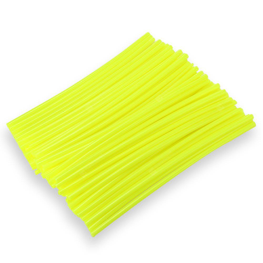LIGHT GREEN 24CM Steel Wire Colorful Plastic Sleeve