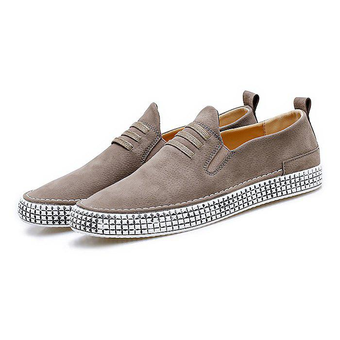 Male Soft Wearable Slip On Casual Leather Shoes