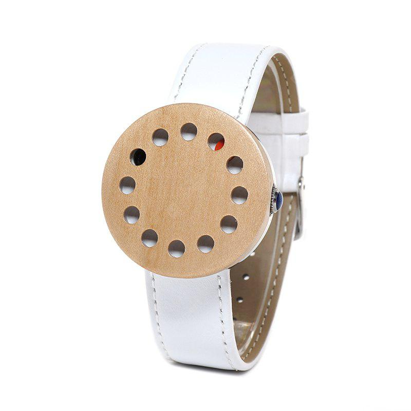 Buy BOBO BIRD WC15 Genuine Leather Band Women Watch WHITE