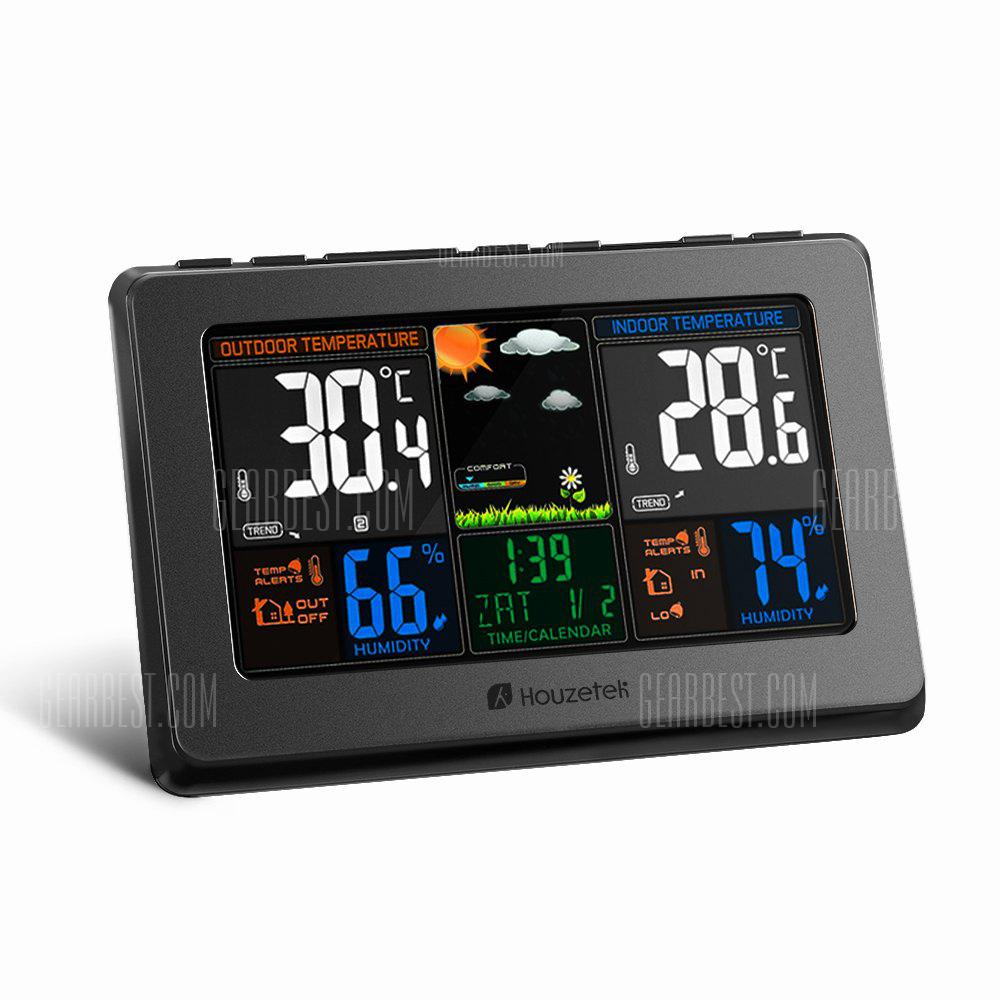Stazione meteorologica a colori automatica wireless - SPINA NERA US (2-PIN)