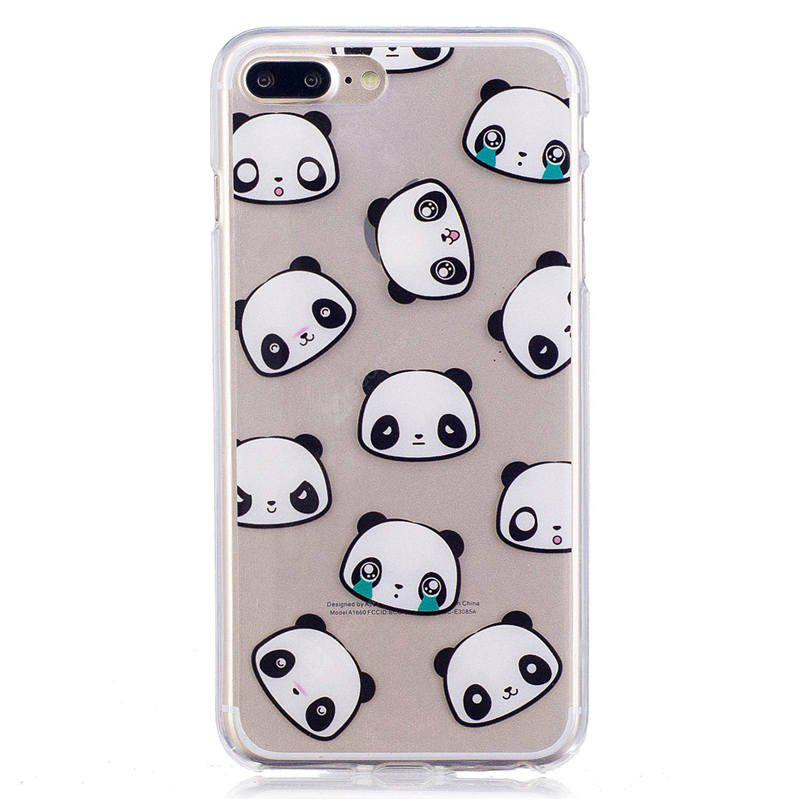 Cartoon Panda Style TPU Soft Protective Case for iPhone 7 Plus