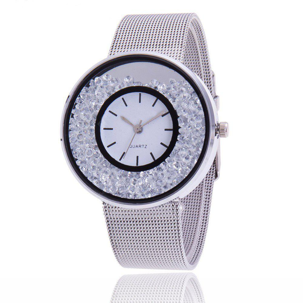 Stylish Steel Net Band Women Quartz Watch