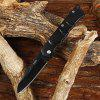CTSmart 2008 Pocket Stainless Steel No Lock Folding Knife - BLACK
