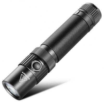 zanflare F1 USB Rechargeable Flashlight - 6000-6500K BLACK-