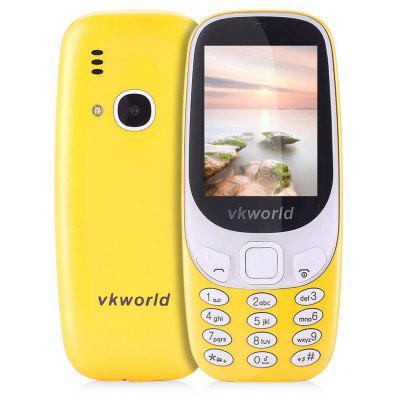 Buy YELLOW Vkworld Z3310 Quad Band Unlocked Phone for $20.80 in GearBest store