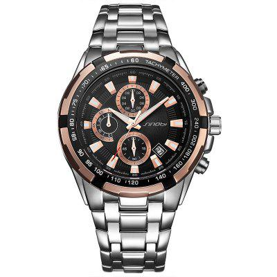 Buy ROSE GOLD SINOBI 9720 Stylish Steel Band Men Quartz Watch for $33.79 in GearBest store