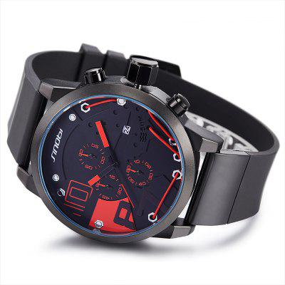SINOBI 9728 Stylish Silicone Band Men Quartz WatchMens Watches<br>SINOBI 9728 Stylish Silicone Band Men Quartz Watch<br><br>Band material: Silicone<br>Band size: 26 x 2.5cm<br>Brand: Sinobi<br>Case material: Alloy<br>Clasp type: Pin buckle<br>Dial size: 5 x 5 x 1.2cm<br>Display type: Analog<br>Movement type: Quartz watch<br>Package Contents: 1 x Watch, 1 x Box<br>Package size (L x W x H): 28.00 x 8.00 x 3.50 cm / 11.02 x 3.15 x 1.38 inches<br>Package weight: 0.1460 kg<br>Product size (L x W x H): 26.00 x 5.00 x 1.20 cm / 10.24 x 1.97 x 0.47 inches<br>Product weight: 0.0960 kg<br>Shape of the dial: Round<br>Watch mirror: Mineral glass<br>Watch style: Fashion<br>Watches categories: Men