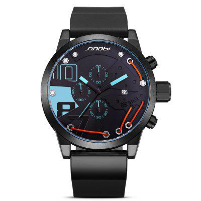 Buy BLUE SINOBI 9728 Stylish Silicone Band Men Quartz Watch for $30.47 in GearBest store