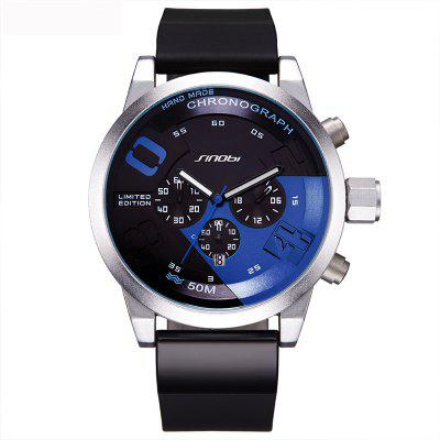Buy BLUE SINOBI 9716 Stylish Silicone Band Men Quartz Watch for $29.49 in GearBest store
