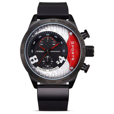 Buy RED SINOBI 9690 Stylish Silicone Band Men Quartz Watch for $34.68 in GearBest store