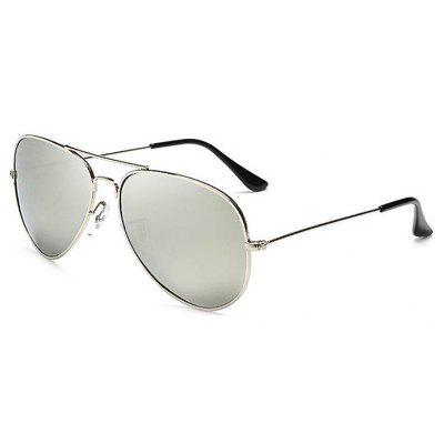 Buy REFLECTIVE WHITE COLOR Classic Style Reflective Unisex Sunglasses for $7.40 in GearBest store