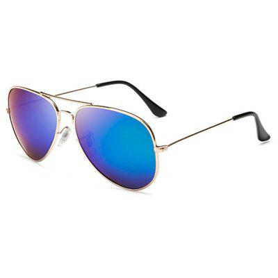 Buy BLUE Classic Style Reflective Unisex Sunglasses for $7.40 in GearBest store