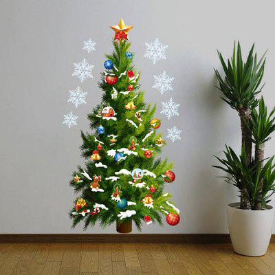 Buy GREEN MCYH PVC Wall Sticker Christmas Tree and Stars Pattern for $10.22 in GearBest store