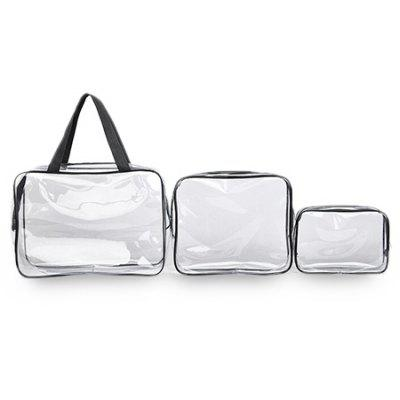 3-piece Set Transparent PVC Waterproof Travel Organizer Bag