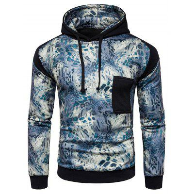 Buy BLACK L Comfortable Long Sleeve Hooded Printed Sweatshirt for $30.35 in GearBest store