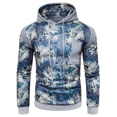 Buy LIGHT GRAY S Comfortable Long Sleeve Hooded Printed Sweatshirt for $30.35 in GearBest store