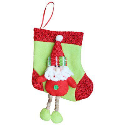 Santa Claus Pattern Christmas Stocking Festival Decoration