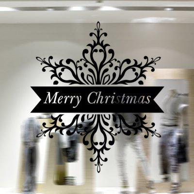 Buy BLACK MCYH WL67 Christmas Decoration Snowflake Wall Sticker for $8.06 in GearBest store