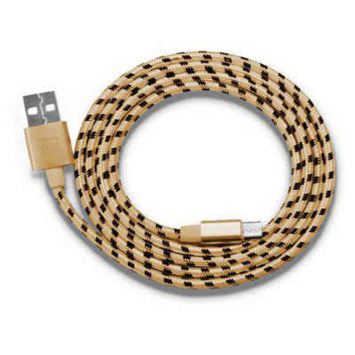 Buy CHAMPAGNE Micro USB Braided Data Transfer Charging Cable for $2.31 in GearBest store