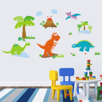 Buy COLORMIX DSU Cartoon Dinosaurs Mural Decal Home Decor Wall Sticker for $5.85 in GearBest store