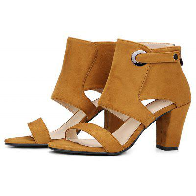 Female Trendy Chunky Heel Foot Friendly Sandals